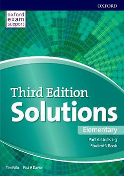 Solutions: Elementary: Student's Book a Units 1-3