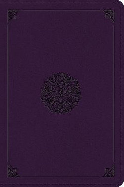 ESV Large Print Bible (TruTone, Lavender, Emblem Design)