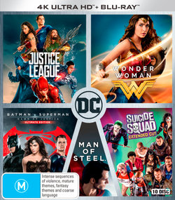 Justice League (2017) / Wonder Woman (2017) / Batman v Superman: Dawn of Justice / Man of Steel / Suicide Squad (Extended Cut) (4K UHD/Blu-ray)