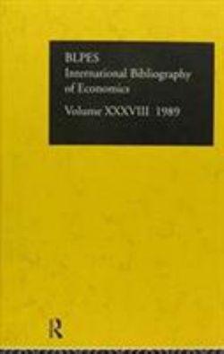 IBSS: Economics: 1989 Volume 38