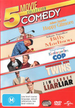 5 Movie Collection: Comedy (Happy Gilmore / Billy Madison / Kindergarten Cop / Twins / Liar Liar)