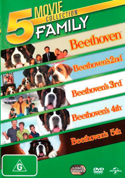 Beethoven's Dog Gone (Beethoven / Beethoven's 2nd / Beethoven's 3rd / Beethoven's 4th / Beethoven's 5th) (5 Movies) (3 Discs)