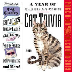Cat Trivia Page-A-Day Desk Calendar 2019