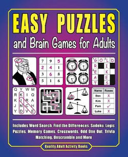 Easy Puzzles and Brain Games for Adults