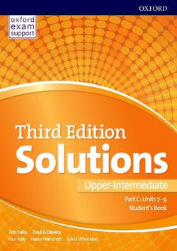 Solutions: Upper-Intermediate: Student's Book C Units 7-9