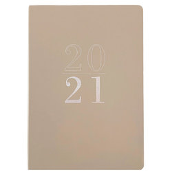 Tan - 2021 Faux Leather Planner