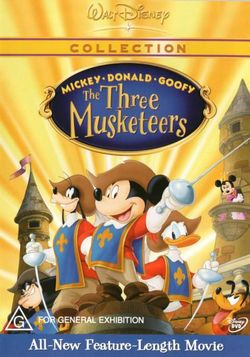 Mickey, Donald and Goofy in The Three Musketeers