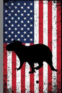 Capybara USA Flag