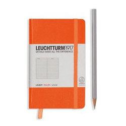 Leuchtturm1917 Notebook Pocket A6 Hardcover Lined - Orange