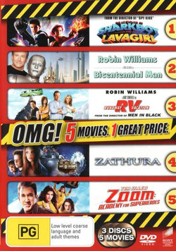 The Adventures of Sharkboy and Lavagirl / Bicentennial Man / RV: Runaway Vacation /  Zathura / Zoom: Academy for Superheroes (OMG! 5 Movies)