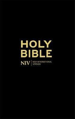 NIV Thinline Black Hardback Bible