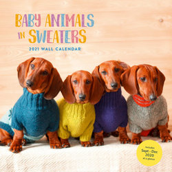 2021 Wall Calendar: Baby Animals in Sweaters