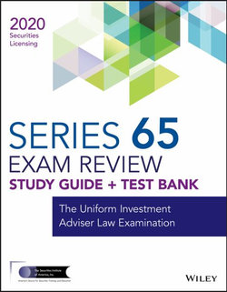 Wiley Series 65 Securities Licensing Exam Review 2020 + Test Bank