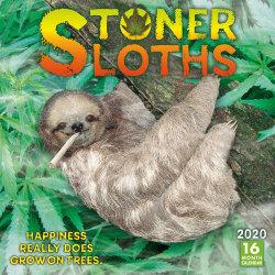Stoner Sloths 16-Month 2020 Calendar