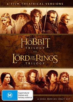 The Hobbit Trilogy and The Lord of the Rings Trilogy (6-Film Theatrical Versions)