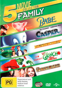 Babe / Casper (1995) / Thunderbirds (2004) / How the Grinch Stole Christmas (2000) / Peter Pan (2003) (OMG! 5 Movies)