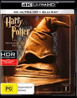 Harry Potter and the Philosopher's Stone (Year 1) (4K UHD / Blu-ray)
