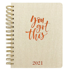 You Got This - 2021 Spiral Faux Leather Planner (Diary)