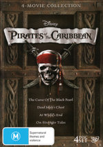 Pirates of the Caribbean: 4-Movie Collection (The Curse Of The Black Pearl / Dead Man's Chest / At World's End / On Stranger Tides)