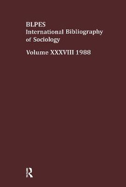 IBSS: Sociology: 1988 Vol 38
