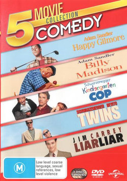 5 Movie Collection: Comedy (Happy Gilmore / Billy Madison / Kindergarten Cop / Twins / Liar Liar)