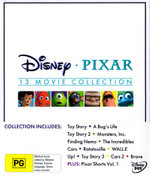 Disney Pixar 13 Movie Collection (Toy Story/Bugs Life/Toy Story 2/Monsters Inc/Finding Nemo/Incredibles/Cars/Ratatouille/WALL-E/Up/Toy Story 3/Cars 2)