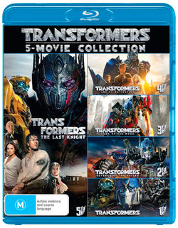 Transformers: 5-Movie Collection (The Last Knight / Age of Extinction / Dark of the Moon / Rise of the Fallen / Transformers)