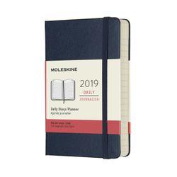 Moleskine 2019 Daily Pocket Diary Hard Cover Blue Sapphire