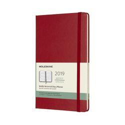 Moleskine 2019 Weekly Large Horizontal Planner Red Scarlet Hardcover