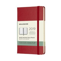 Moleskine 2019 Weekly Pocket Notebook Planner Red Scarlet Hardcover