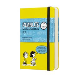 Moleskine 2019 Daily Pocket Planner Diary Limited Edition Peanuts Hardcover Yellow