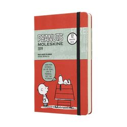Moleskine 2019 Daily Planner Diary Limited Edition Peanuts Red Hardcover