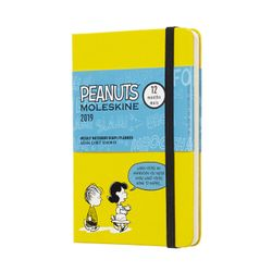 Moleskine 2019 Weekly Pocket Notebook Limited Edition Peanuts Hardcover Yellow