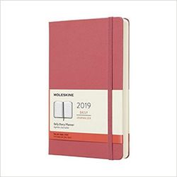 Moleskine 2019 Daily Diary Planner Large Pink Daisy Hardcover