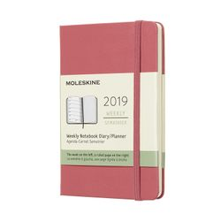 Moleskine 2019 Diary Planner Weekly Pocket Notebook Pink Daisy Hardcover