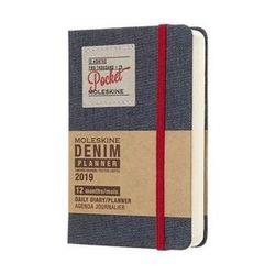 Moleskine 2019 Daily Pocket Diary Planner Limited Edition Hardcover Denim - Black