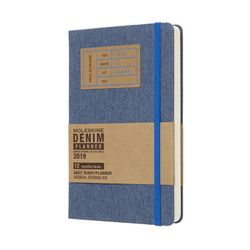 Moleskine 2019 Large Daily Diary Limited Edition Denim Daily Hardcover Blue