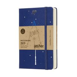 Moleskine 2019 Daily Pocket Diary Limited Edition Harry Potter Hardcover Blue