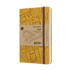 Moleskine 2019 Daily Diary Large Limited Edition Harry Potter Hardcover Beige