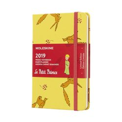 Moleskine 2019 Weekly Pocket Notebook Limited Edition Le Petit Prince Hardcover Yellow Sunflower