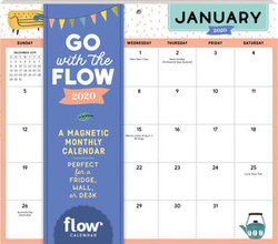 Desk Calendar 2020.Go With The Flow Desk Calendar 2020