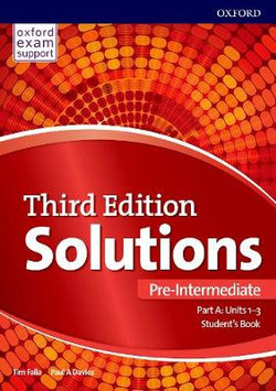 Solutions: Pre-Intermediate: Student's Book a Units 1-3