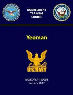 Yeoman - NAVEDTRA 15009B