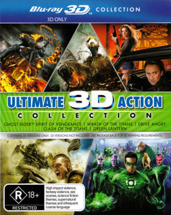 Ultimate 3D Action Collection (Ghost Rider: Spirit of Vengeance/Wrath of the Titans/Drive Angry/Clash of the Titans (2010)/Green Lantern) (3D Blu-ray)
