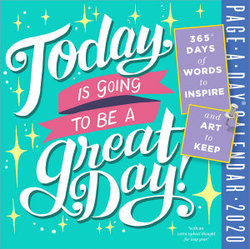 photo relating to Page a Day Calendar identify At present Is Likely towards Be a Terrific Working day! Site-A-Working day Calendar 2020