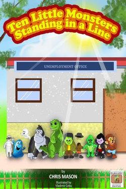 Ten Little Monsters Standing in a Line