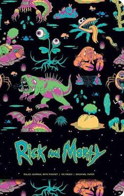 Rick and Morty Deluxe Hardcover Ruled Journal