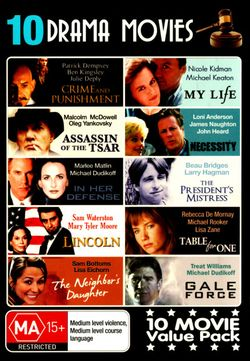 Drama Movies: Crime and Punishment/My Life/Necessity/In Her Defense/Lincoln/Table for One/Gale Force/Neighbours Daughter (4 Discs)