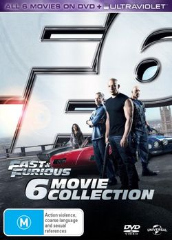 Fast And Furious Collection 1 6 2 Tokyo Drift 4 5 DVD UV By Rob