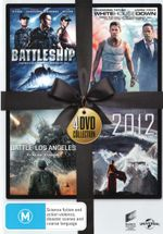 4 DVD Collection: Battleship / White House Down / Battle Los Angeles / 2012